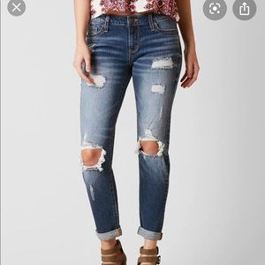 Daytrip refined lynx slouchy ankle straight jeans